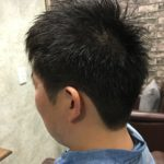 髪が硬くて広がりやすい男性のお客様を爽やかショート