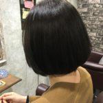ブリーチ毛で断れる確立が高い髪に矯正とカラーの同時施術