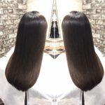 ロングの方も縮毛矯正で輝くような綺麗な髪に。