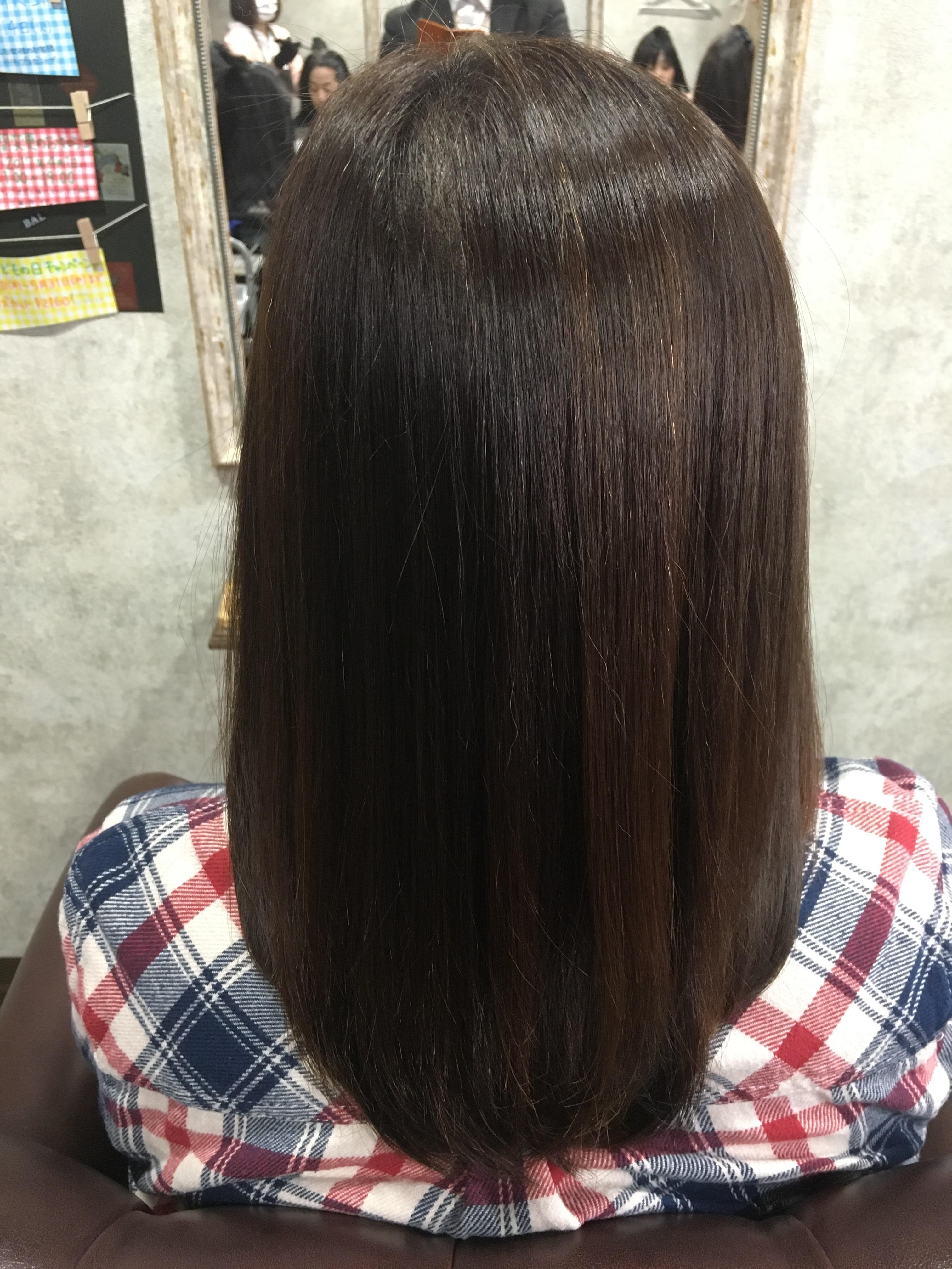 年齢で出てくる癖「エイジング毛」を矯正でサラサラストレートヘアに!