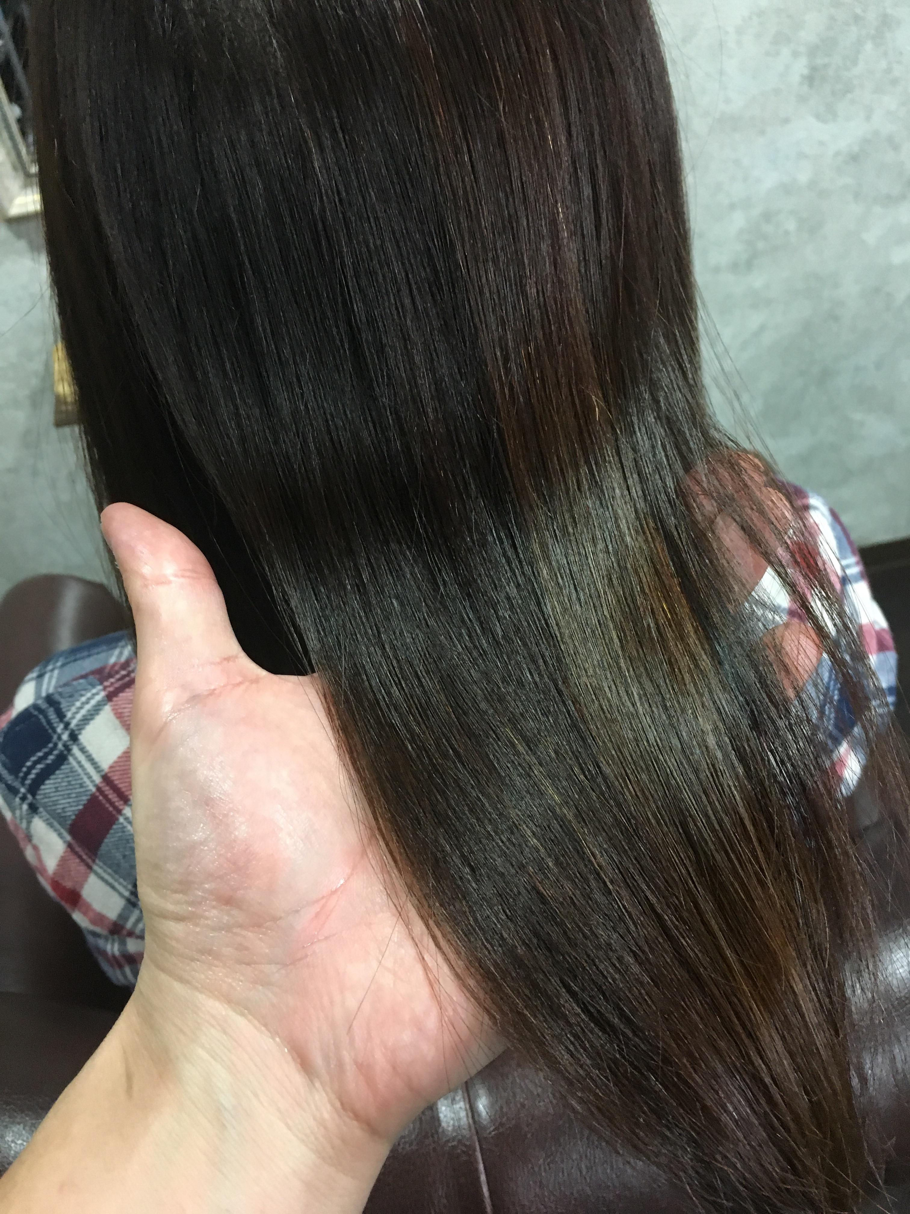 ビビり毛になりそうな髪に縮毛矯正