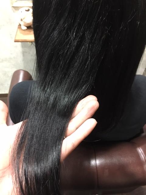 縮毛矯正後の写真4