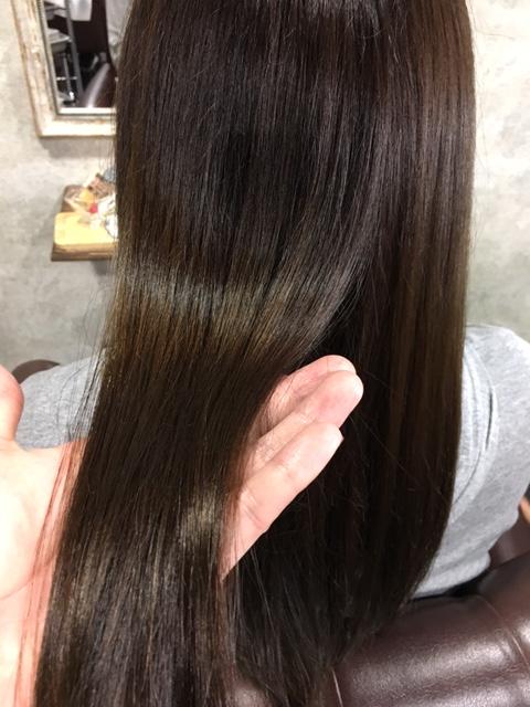 縮毛矯正後の写真3