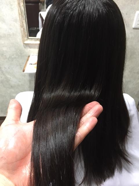 縮毛矯正後の写真2