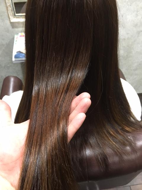 縮毛矯正後の写真1